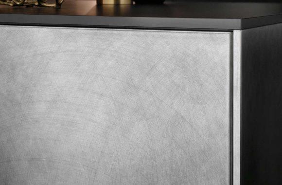 Häcker Hochwertige Vearbeitung Designküche - Vulkaneiche   Industriestahl