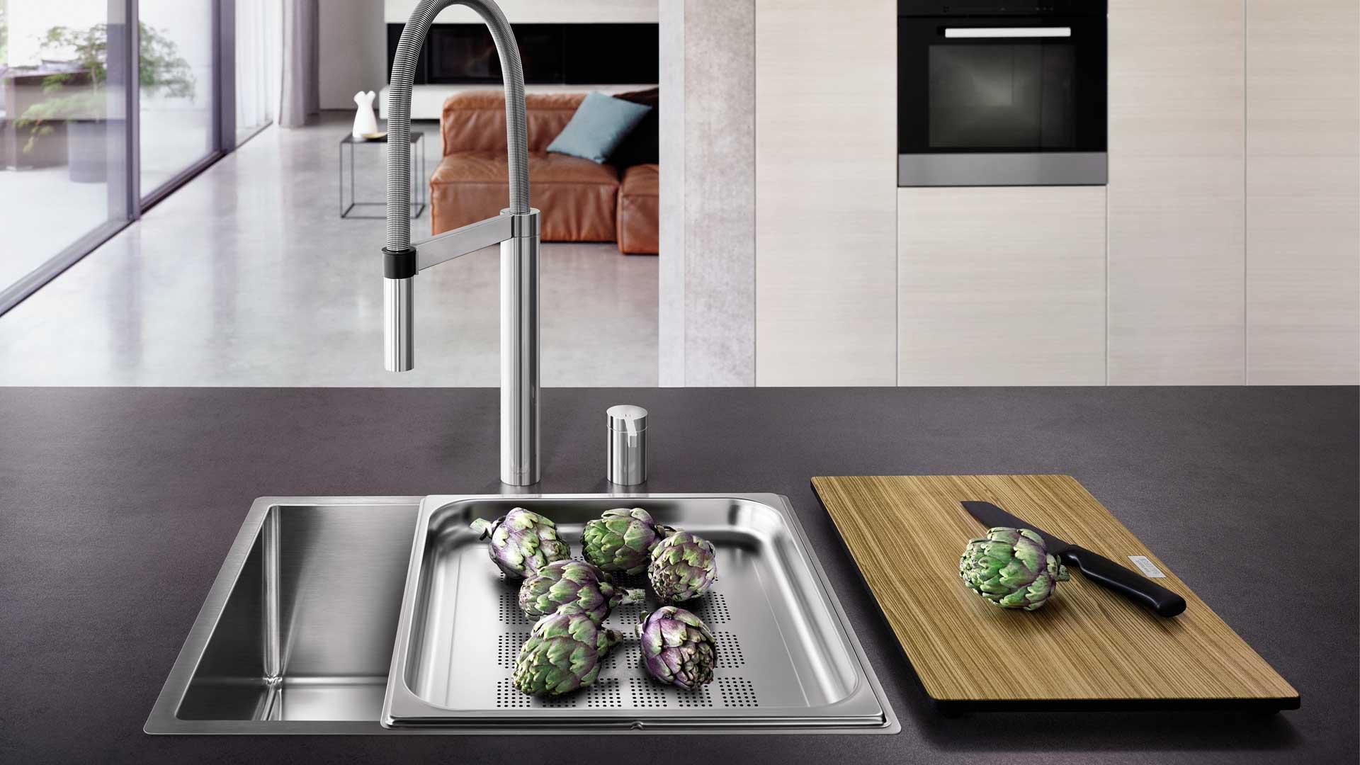 Dampfgarerspüle von Blanco in der Küchenwelt preissegger