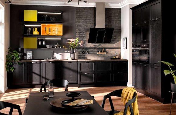 Landhaus Küche Schwarz