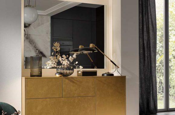 Küchentrends 2020 Häcker Antharazit und Goldlack im Miele Center preissegger