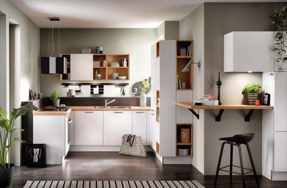 Häcker Klassik Küche in Polarweiß
