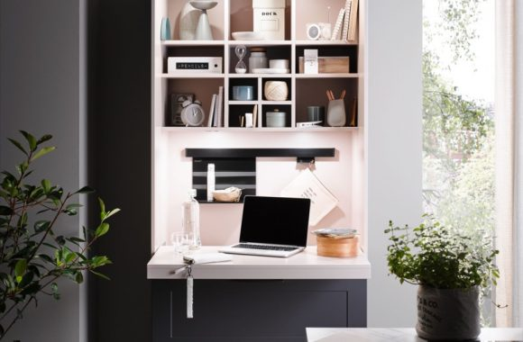 Die neuen Küchentrends 2021 von Häcker Lotus-Graphit Häcker Küche mit Homeoffice Arbeitsplatz