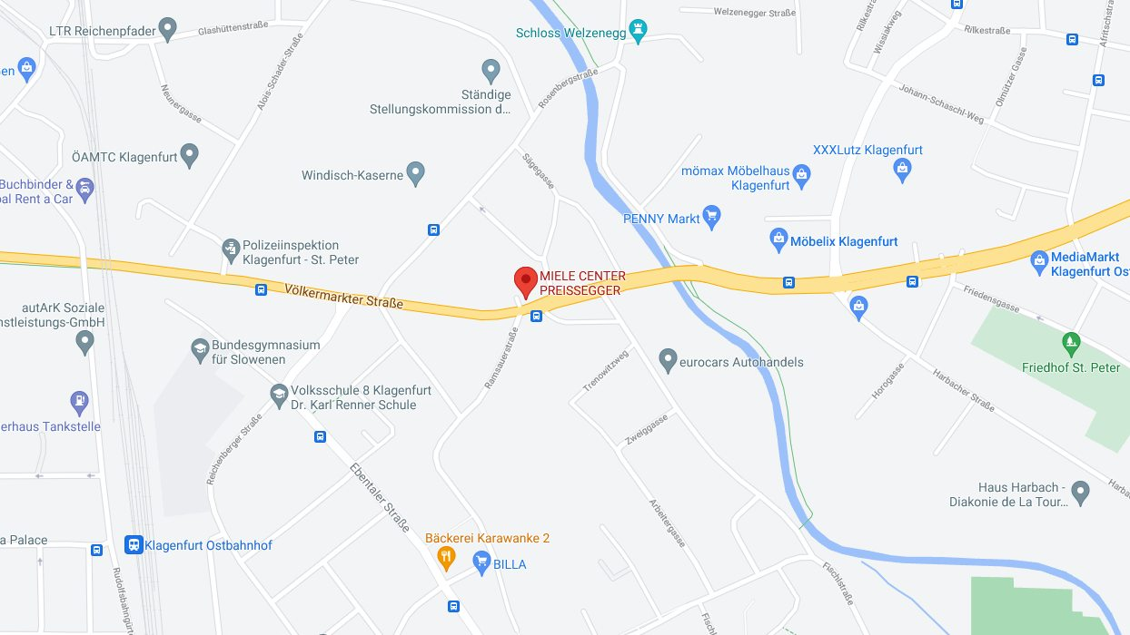 Anfahrtsplan: KÜCHENWELT MIELE CENTER Preissegger
